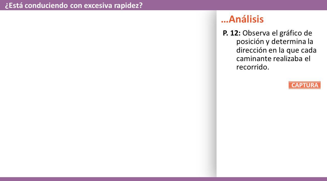 P.13: Ahora, compara tus gráficos de posición y velocidad vs.