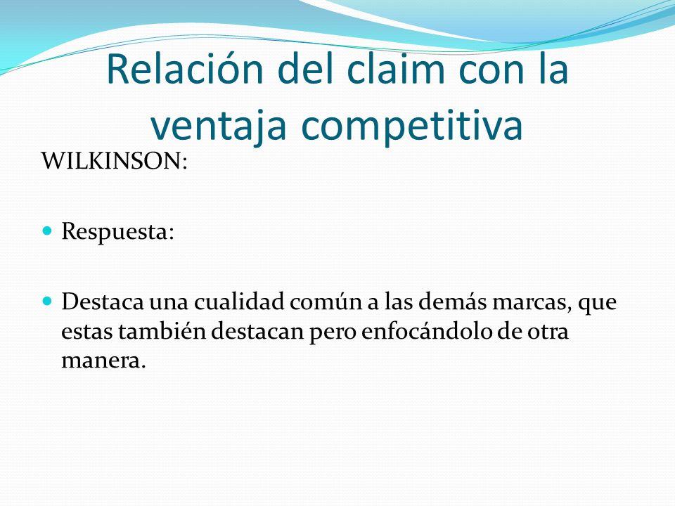 Relación del claim con la ventaja competitiva WII: Selecciona entre estas respuestas cómo se diferencia WII de su competencia en base a su claim: PARA COMPARTIR EN FAMILIA Destaca una cualidad propia de su producto.