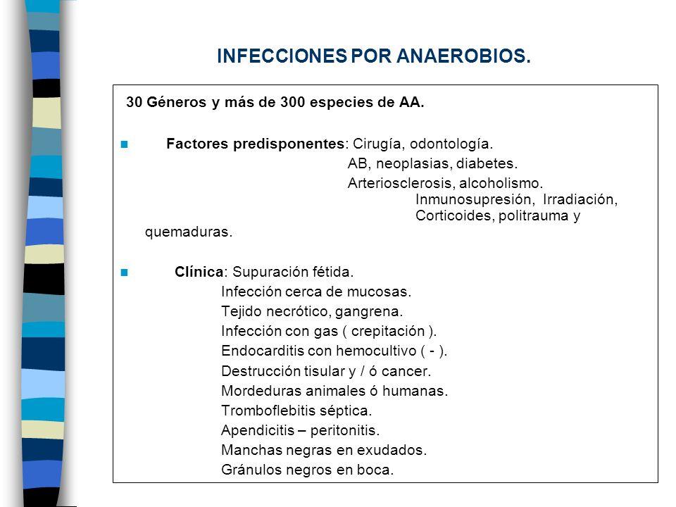 INFECCIONES POR ANAEROBIOS.