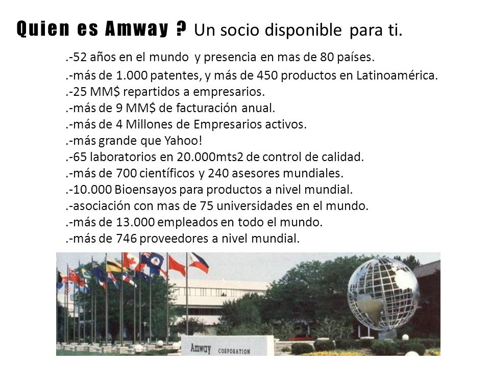 Que nos ofrece Amway .