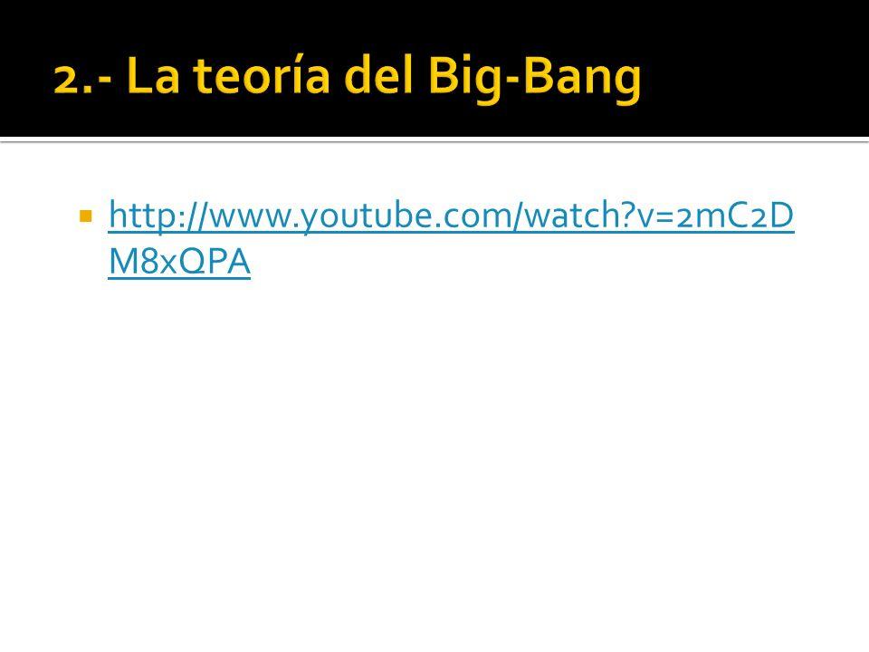 2.1.- El Big-Bang se demuestra La teoría del Big-Bang encontró su demostración al descubrirse la Radiación de fondo de microondas 1965 Penzias y Wilson (premio nobel 1978)