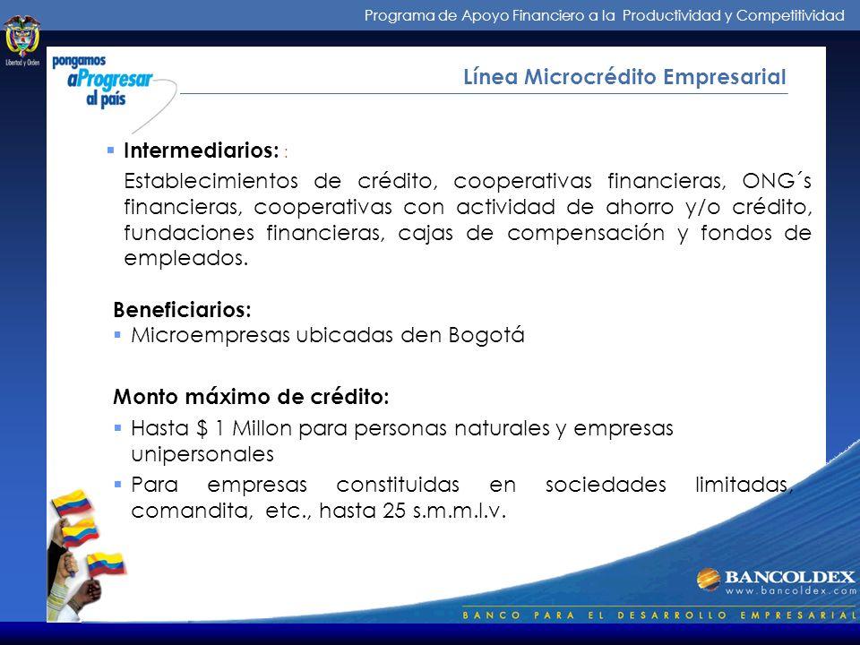 Programa de Apoyo Financiero a la Productividad y Competitividad ¿Cómo Operamos.