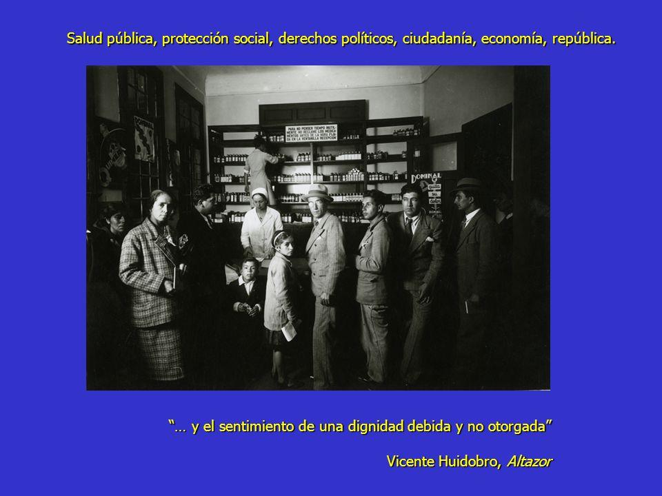 Dos hitos: 1938 Ley Seguro Obrero 1952 Servicio Nacional de Salud Convergen dos matrices ideológicas: pragmatismo productivo y responsabilidad del estado en promover equidad Dr.