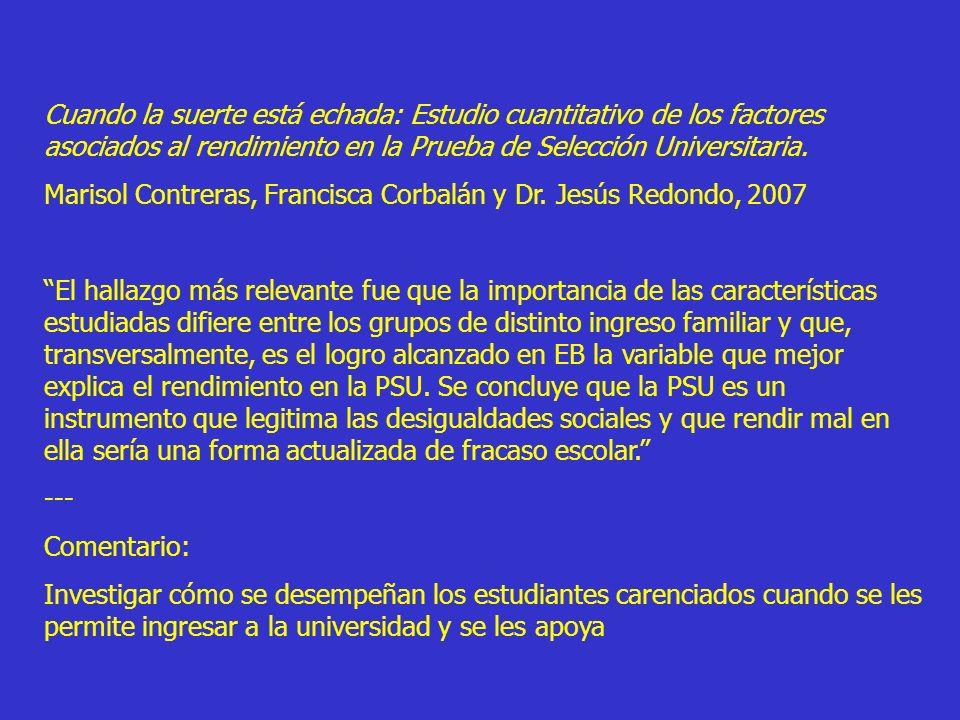 ExcelenciaCompromiso Universidad de Chile = Excelencia y Compromiso Sólo tiene sentido como la conjunción de ambos atributos Si bien es factible la excelencia sin compromiso social, el compromiso sin excelencia es imposible.