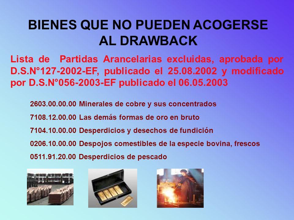 MATERIA PRIMA - INSUMOS GENERALIDADES EL CONCEPTO DE INSUMO, PARA EFECTO DE LA INCLUSIÓN O EXCLUSIÓN DEL BENEFICIO, INCLUYE MATERIAS PRIMAS, PRODUCTOS INTERMEDIOS, PARTES Y PIEZAS, LOS MISMOS QUE SE SUJETARAN A LAS DEFINICIONES SEÑALADAS EN EL ARTÍCULO 13° DEL DECRETO SUPREMO N°104-95-EF