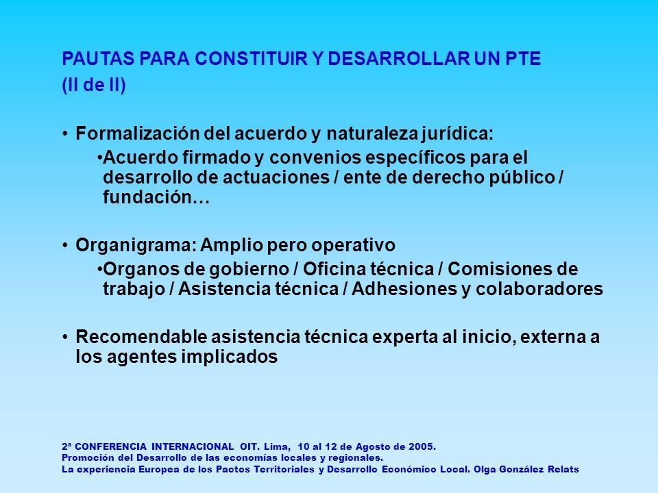 2ª CONFERENCIA INTERNACIONAL OIT.Lima, 10 al 12 de Agosto de 2005.
