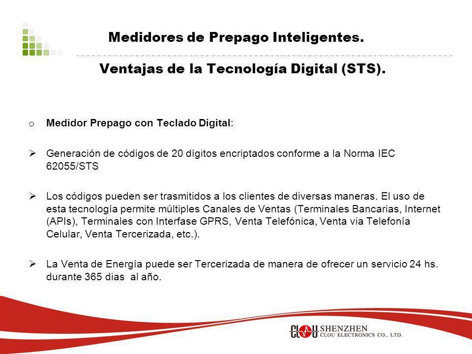 Medidores de Prepago Inteligentes.Ventajas de la Tecnología Digital (STS).