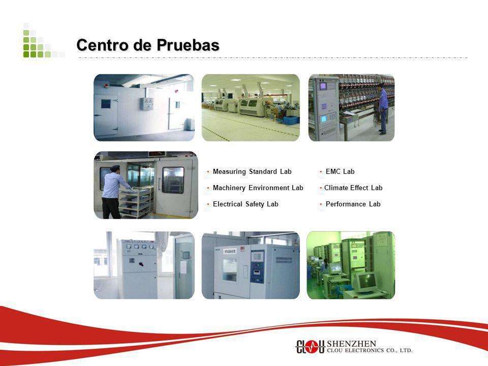 EMC Lab Climate Effect Lab Performance Lab Measuring Standard Lab Machinery Environment Lab Electrical Safety Lab Centro de Pruebas