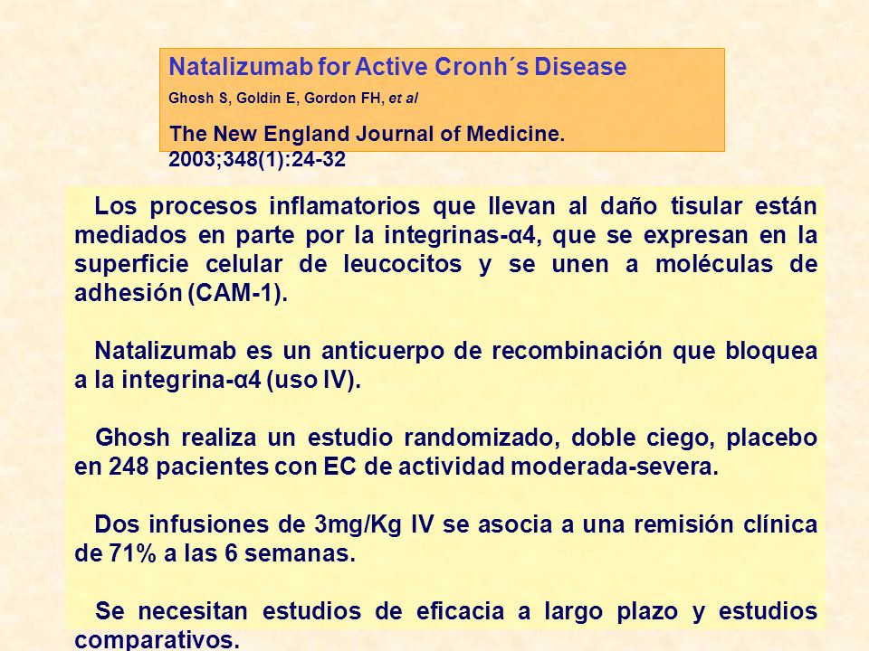 Influence of Immunogenicity on the long-term efficacy of infliximab in Crohn´s Disease.