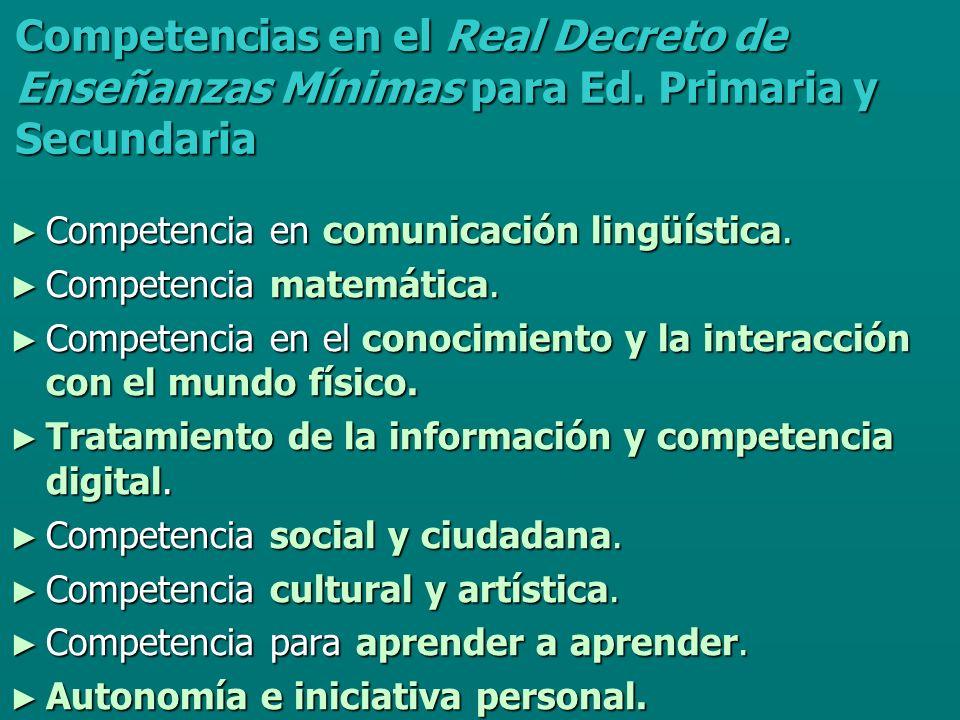 Competencia en comunicación verbal Competencias en El modelo de evaluación de diagnóstico de Andalucía, según Recomendación del Parlamento Europeo y del Consejo Europeo de 18 de diciembre de 2006 sobre las competencias clave para el aprendizaje permanente (Junta de Andalucía) Comunicación en lengua materna.