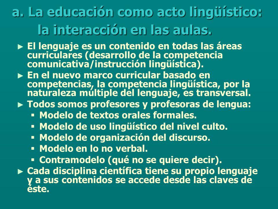 HABILIDADES COGNITIVAS (base de los aprendizajes) analizar, comparar, clasificar, inferir, deducir, transferir, valorar, operar,… PLANO INTRAPSICOLÓGICO PLANO INTERPSICOLÓGICO HABILIDADES COGNITIVO-LINGÜÍSTICAS describir, definir, resumir, explicar, justificar, argumentar, demostrar, … CONTENIDOS DE LAS ÁREAS CURRICULARES desarrollan posibilitan y se concretan en las diferentes formas de usarlas determinan maneras distintas de aprender MENTE HUMANA CULTURA (J.