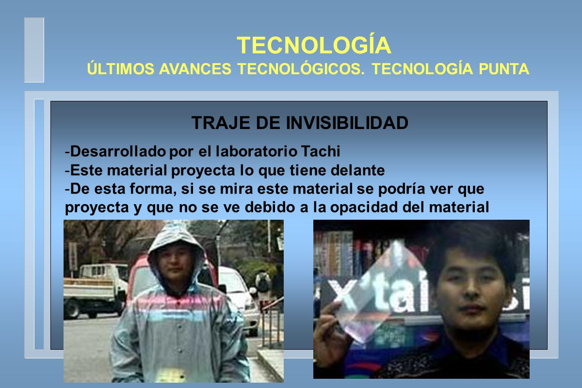 TECNOLOGÍA ÚLTIMOS AVANCES TECNOLÓGICOS.