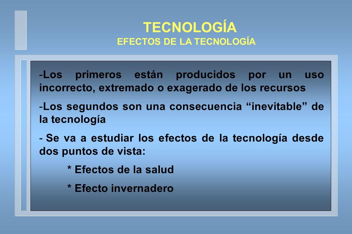 TECNOLOGÍA EFECTOS DE LA TECNOLOGÍA