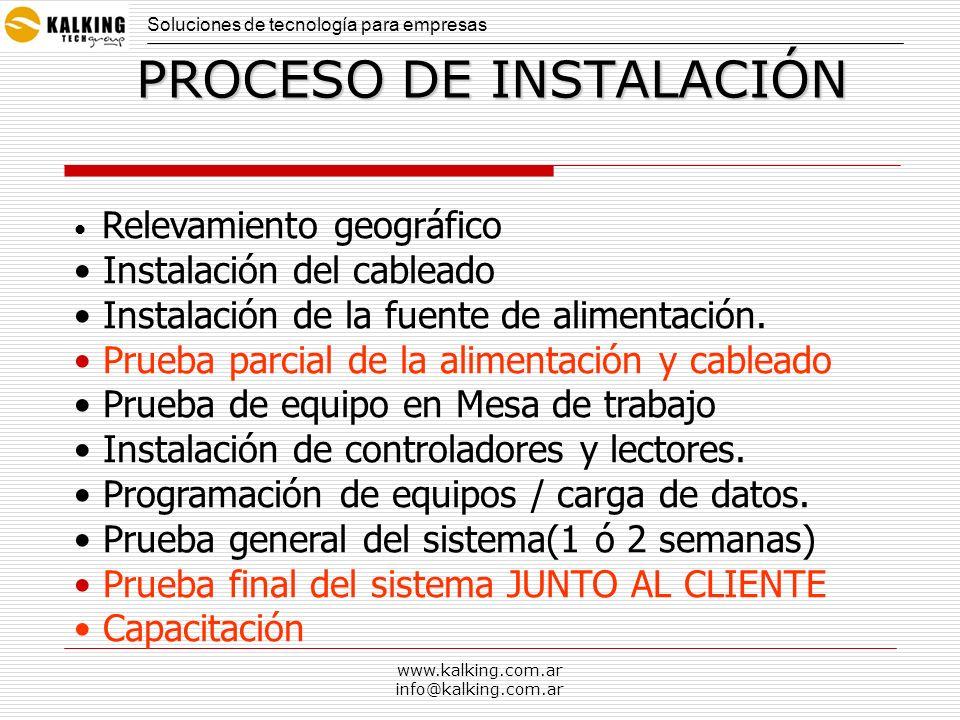 www.kalking.com.ar info@kalking.com.ar Software Compatible con Windows XP y NT Versión en Español Control de ???.