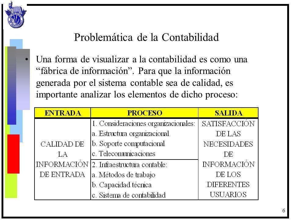 7 Las consideraciones organizacionales tienen que ver con la definición de funciones y la disponibilidad de recursos computacionales para la operación del sistema contable.