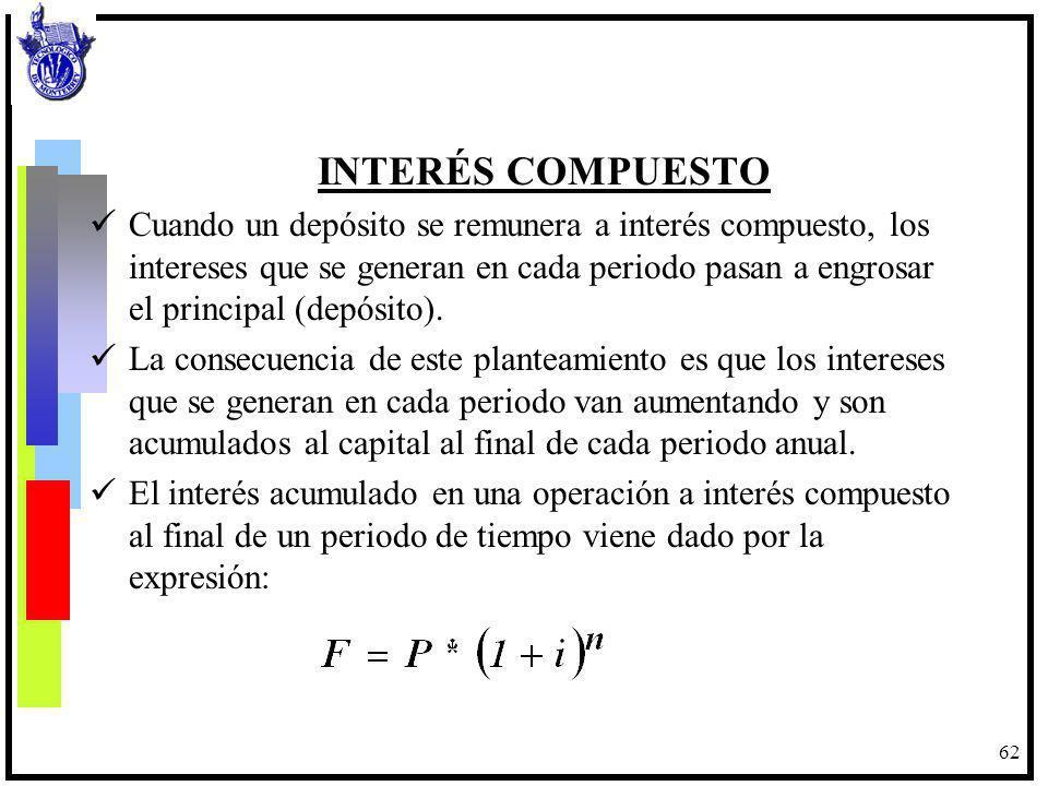 63 Para la solución de problemas de interés compuesto, el interés anual debe ser convertido a la tasa que corresponda el periodo de capitalización.