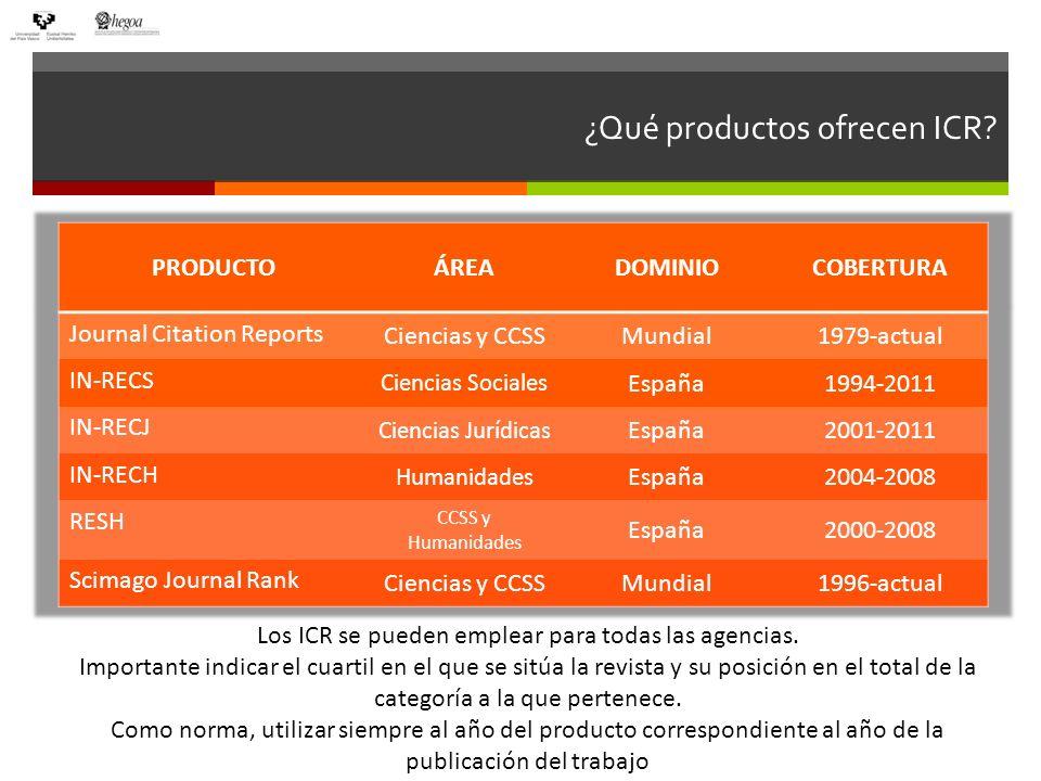 Revistas indexadas: JCR ISI Web of Knowledge
