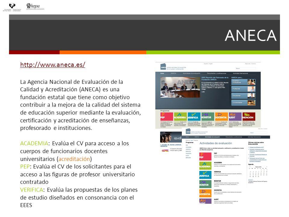 ACREDITACIÓN ANECA CRITERIOS DE EVALUACIÓNBAREMO ACTIVIDAD INVESTIGADORA: Publicaciones científicas, congresos, conferencias, etc.