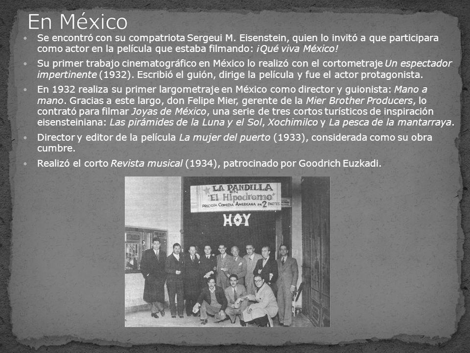 En 1935, dirige las películas El tesoro de Pancho Villa y Celos.