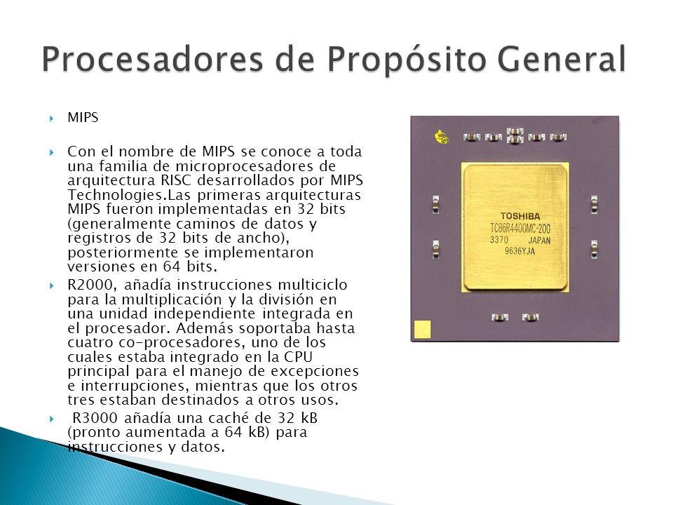 MIPS R4000 se extendió el juego de instrucciones del MIPS para constituir una auténtica arquitectura de 64 bits y se movió la FPU (unidad de punto flotante) al mismo circuito para crear un sistema de chip único, operando a una velocidad de reloj radicalmente superior (inicialmente 100 MHz).