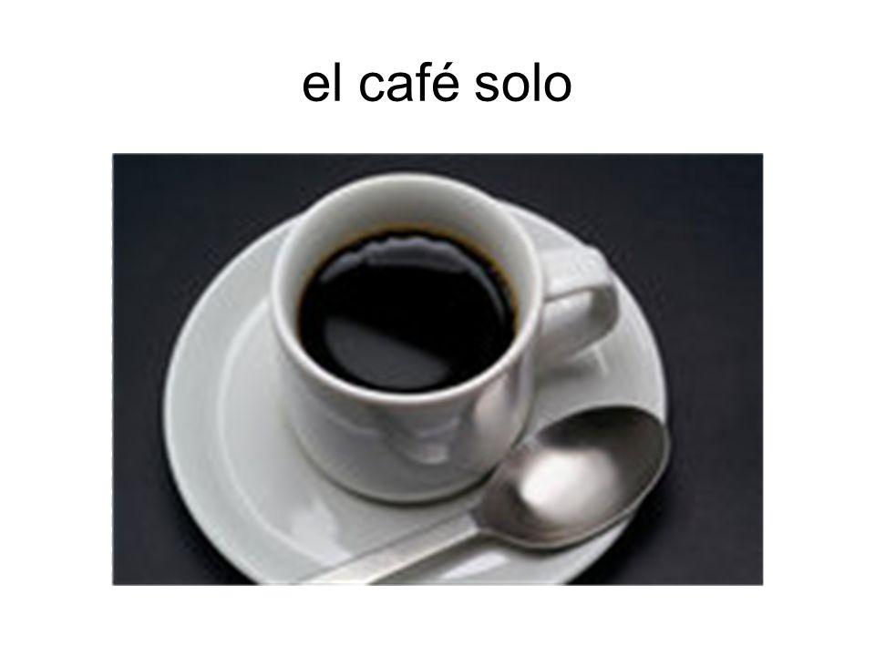 el café con leche