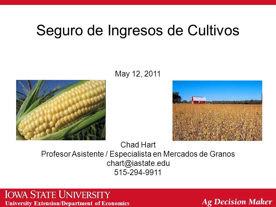 University Extension/Department of Economics Seguro de Cultivos, Plan Federal (EE UU)