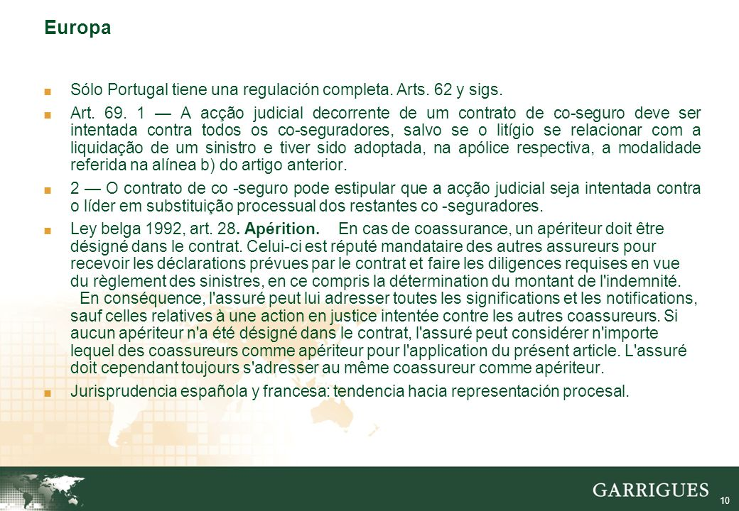 11 Co-seguro no Projeto Projeto: arts.37 – 39. Art.