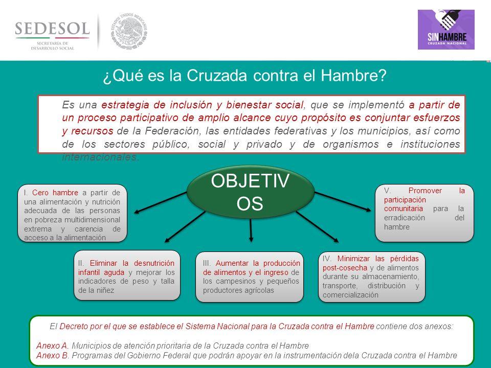 11 OBJETIVO GENERAL Garantizar el derecho humano al acceso permanente a una alimentación adecuada en cantidad y calidad para tender a las necesidades alimentarias y nutricionales de los mexicanos, especialmente de quienes viven en condición de pobreza extrema.