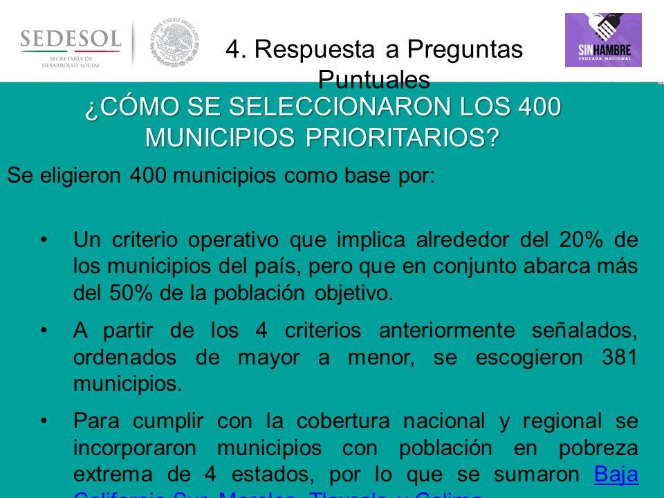 En los 2,457 municipios del país existe población objetivo.