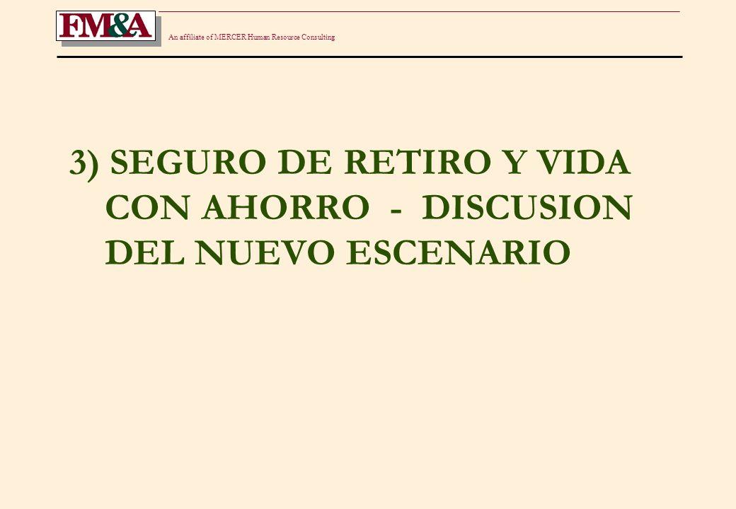 An affiliate of MERCER Human Resource Consulting ELEMENTOS POSITIVOS EL SEGURO DE RETIRO NACIO EN 1987/8 - EPOCA DE INFLACION.