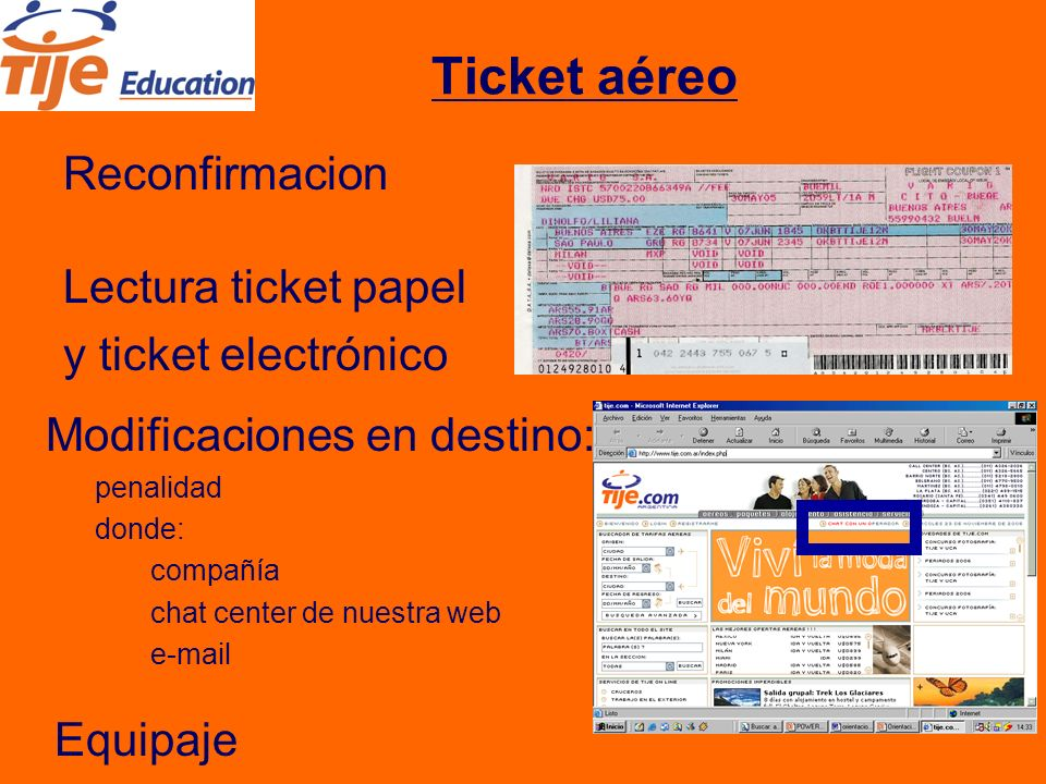 Ticket aéreo Millas