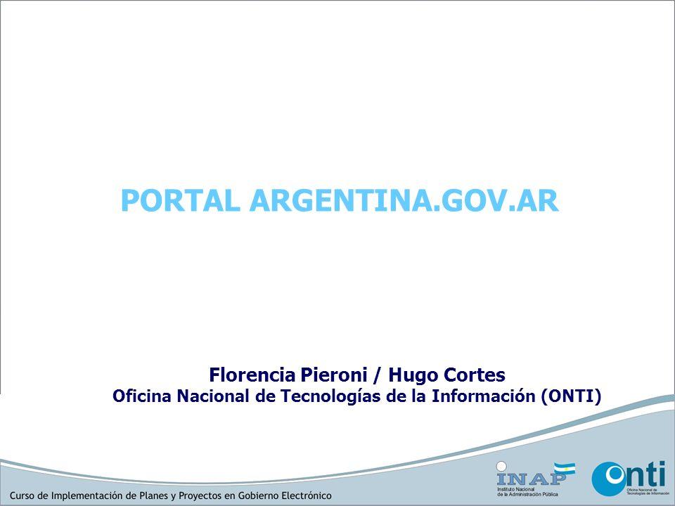 En 1998 fue lanzado un primer portal Argentina.El gobierno on- line.
