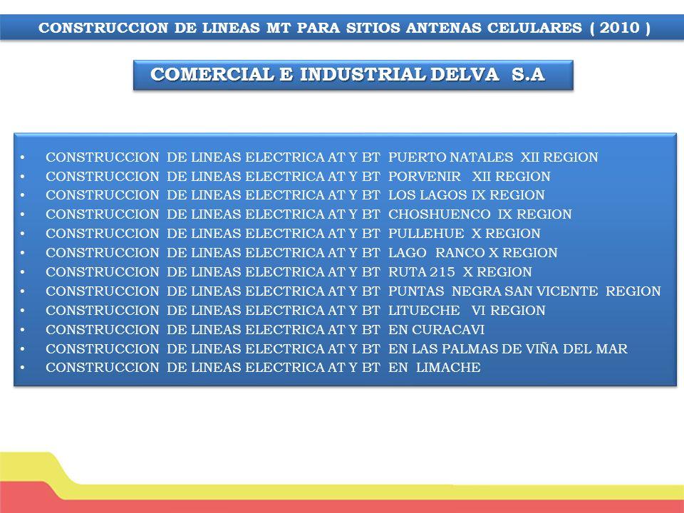 MODIFICACION LINEA ELECTRICA SITIO CELULAR EL PERAL SECTOR PAREDONES VI REGION CAMBIO DE SUB-ESTACION CERRO RUCALTACA – SAN FERNADO RANCAGUA REPARACION LINEA ELECTRICA MT CERRO SANTA INES PICHIDANGUI REPARACION LINEA ELECTRICA MT CERRO GUATULAME IV REGION INSPECCION Y REPARACION LINEA ELECTRICA, PUESTA EN SERVICIO SITIO: Camino Lonquen, La Dormida.