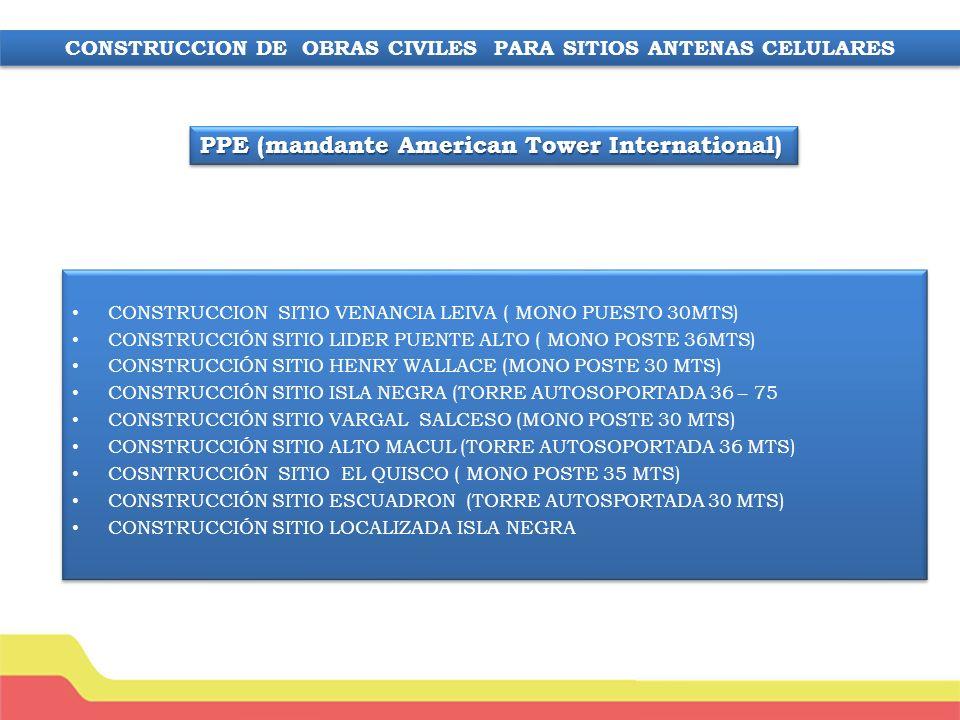 CONSTRUCCION DE OBRAS CIVILES PARA SITIOS ANTENAS CELULARES