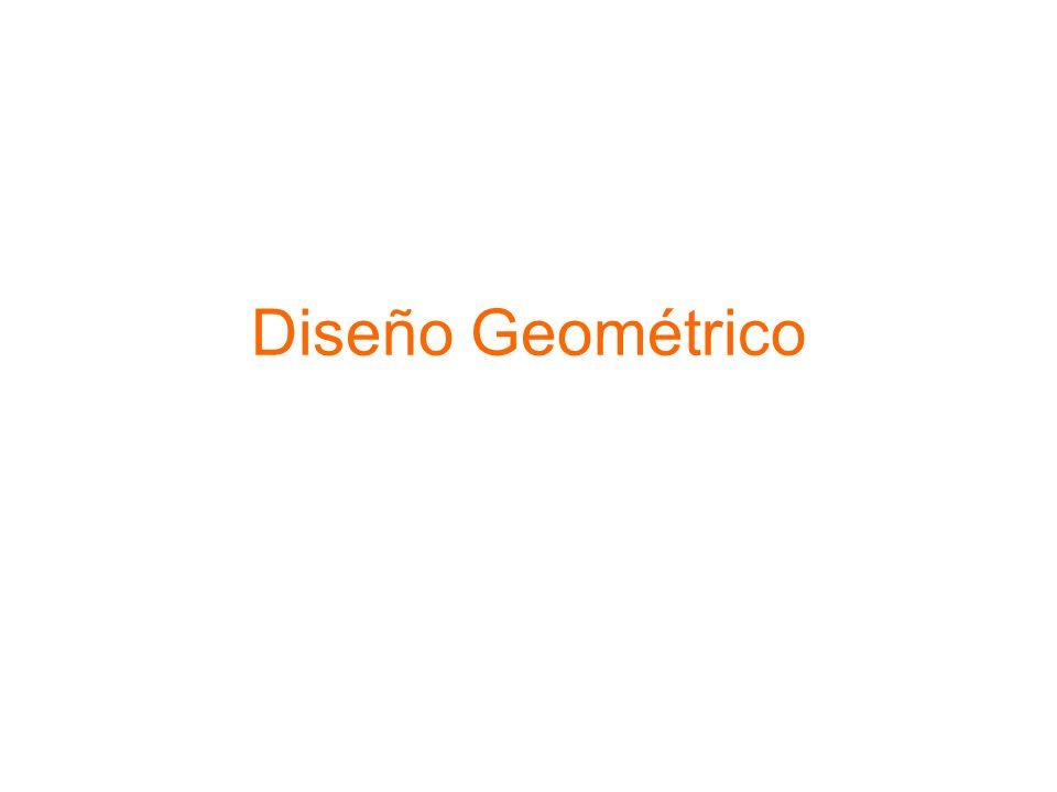 Criterios de Alineamientos La topografía condiciona el alineamiento horizontal de una carretera, en especial los radios de curva y la velocidad de proyecto.