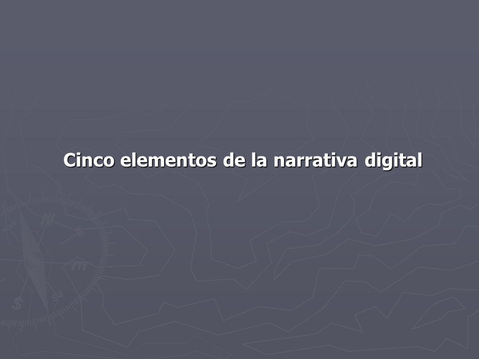 MEDIO La narrativa digital provee al desarrollador de contenido la opción de usar cualquier tipo de medio o combinación de medios para contar una historia noticiosa.