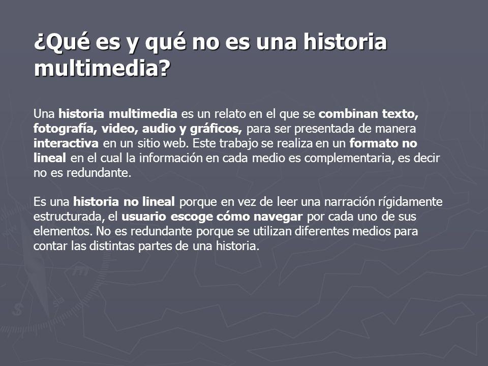 ¿Qué es y qué no es una historia multimedia.