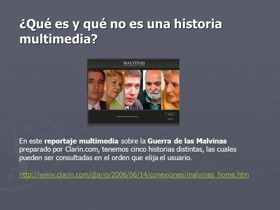 ¿Qué no es una historia multimedia.¿Qué no es una historia multimedia.
