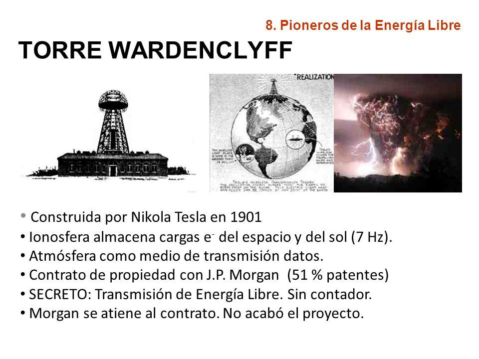 ENERGÍA RADIANTE (1901) Dispositivo que capta la energía cósmica (fotovoltaica) Diferencia de potencial con la tierra.
