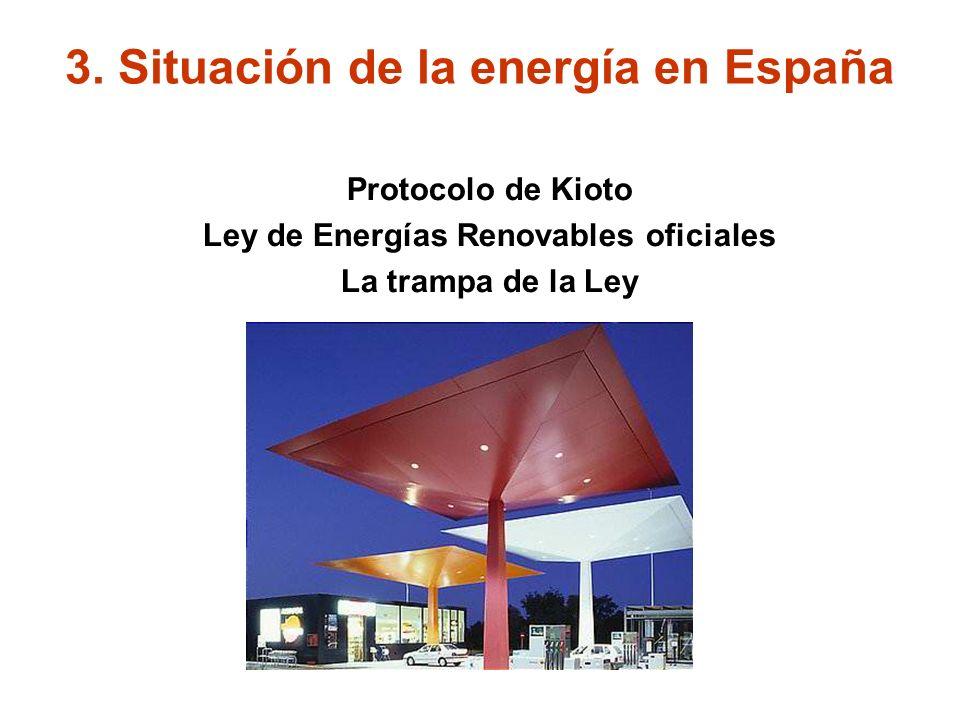 SITUACION EN ESPAÑA CONSUMO TOTAL (Transportes, electricidad, etc) FUENTE: IDAE DEPENDENCIA: 79,3 % DEL EXTERIOR 3.