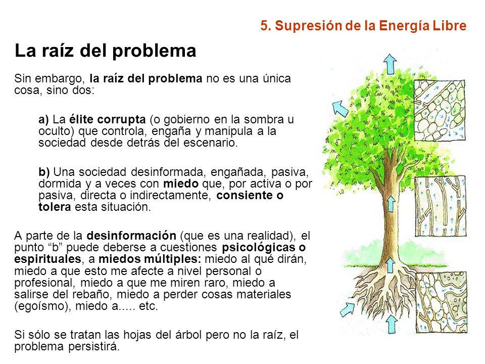 5.Supresión de la Energía Libre ¿Cómo podemos ayudar a solucionar el problema.