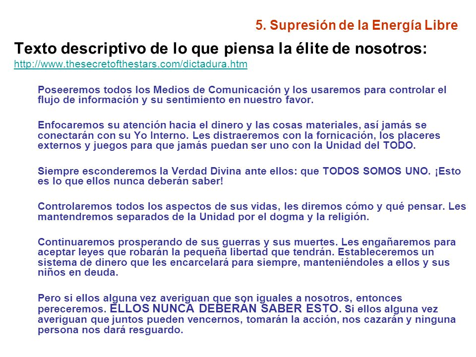 5.Supresión de la Energía Libre Entrevista a Harold W.