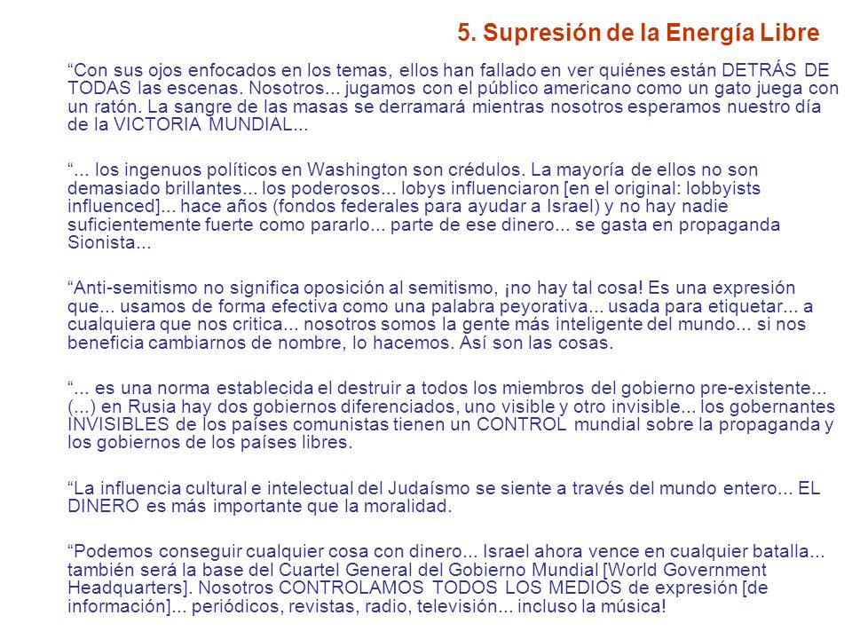 5.Supresión de la Energía Libre Nosotros CENSURAMOS...