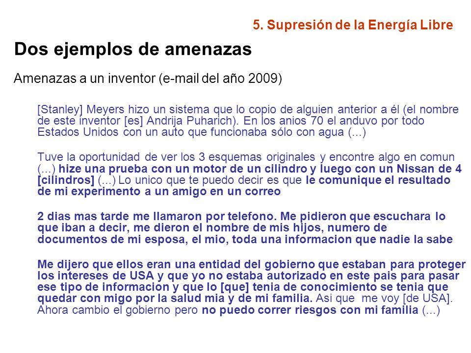 5.Supresión de la Energía Libre Entrevista al Dr.