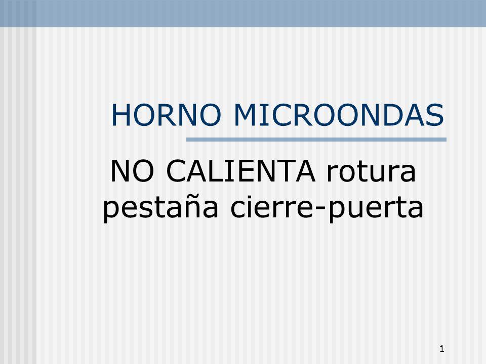 2 Horno Microondas Que el horno no caliente puede deberse a diferentes motivos, vamos a analizar los básicos y que comprobaciones podemos realizar.