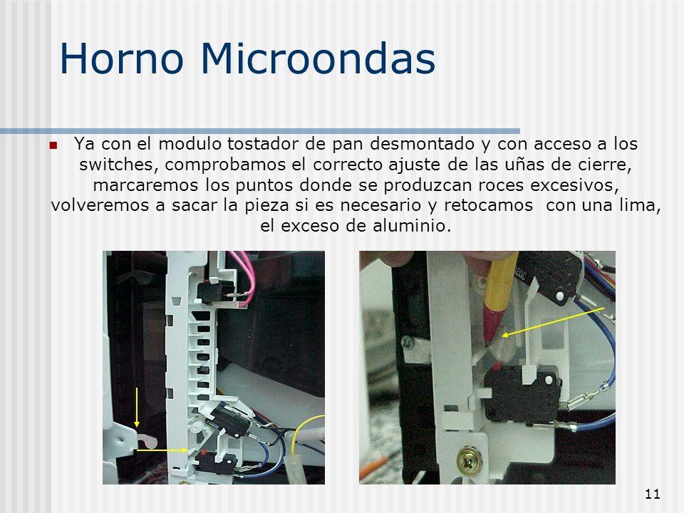 12 Horno Microondas Vista ya finalizada la reparación