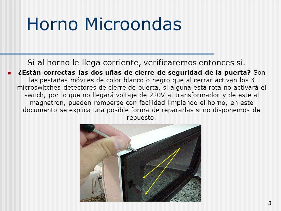 4 Horno Microondas ¿Al seleccionar un programa o tiempo de cocción el horno inicia las funciones básicas de calentado.
