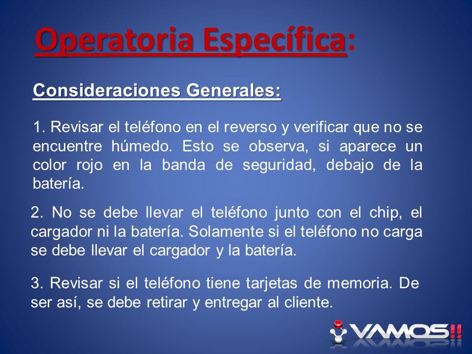 Operatoria Específica Operatoria Específica: Orden Técnica: En este espacio se debe completar con los datos del cliente.