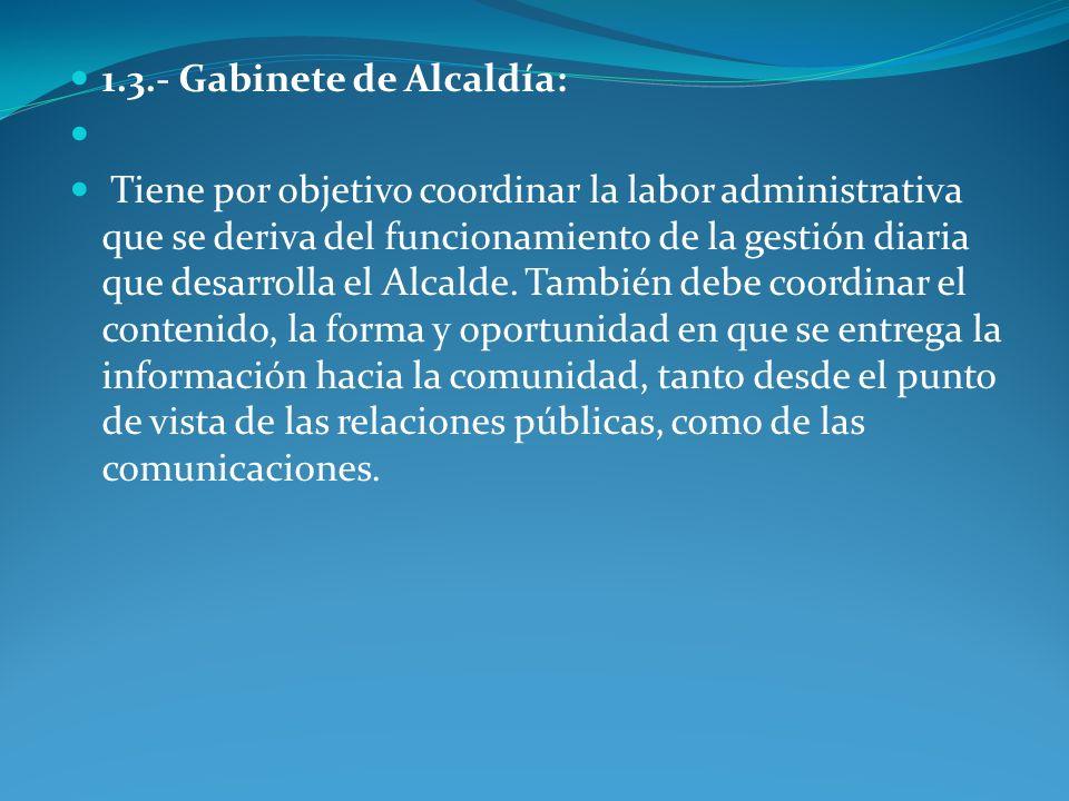 FUNCIONES El Gabinete de la Alcaldía tiene a su cargo las siguientes funciones: a) Organizar y administrar la agenda de responsabilidades e intervenciones públicas del alcalde.