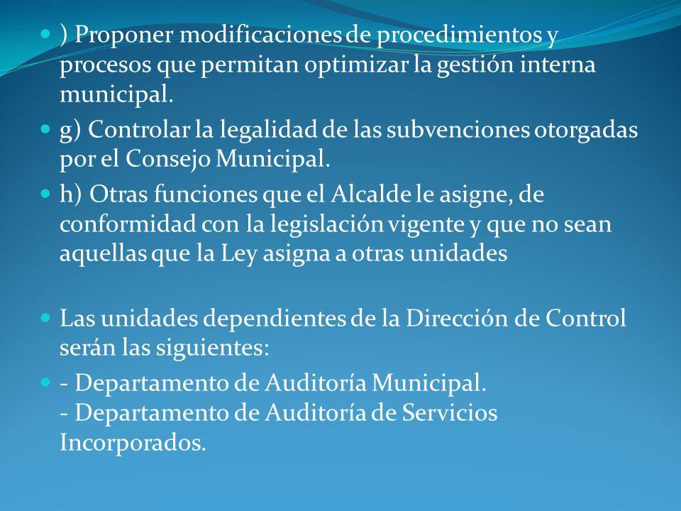DEPARTAMENTO DE AUDITORIA MUNICIPAL.